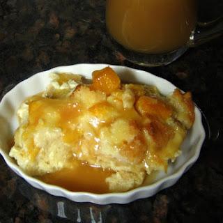 Peach Custard Bread Pudding