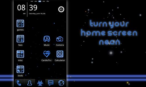 Neon Blue GO Theme Unlock Key