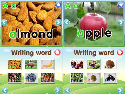 ABC Fruit Veg Flashcard Write- screenshot thumbnail