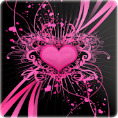 3D Love heart background