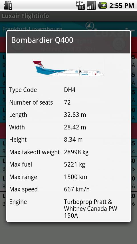Luxair for Android - screenshot