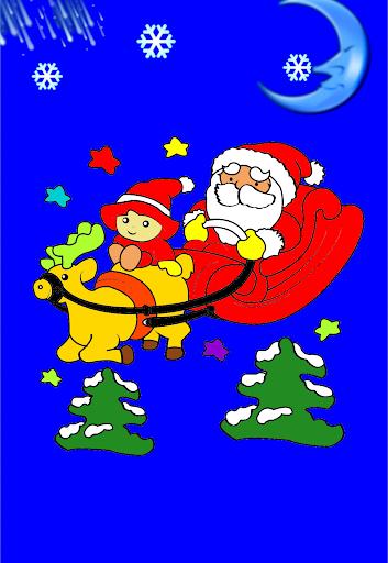 クリスマスを着色子供たち