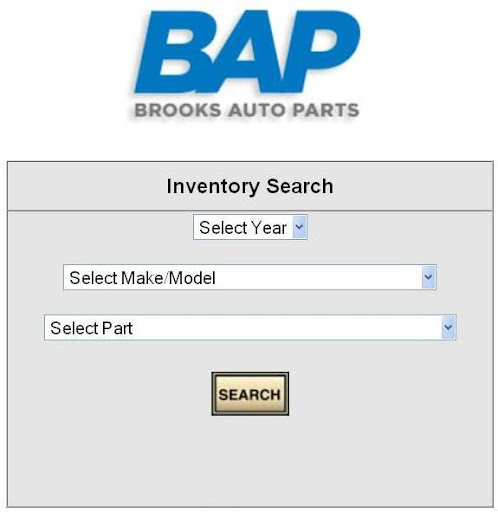 Brooks Auto Parts Lookup