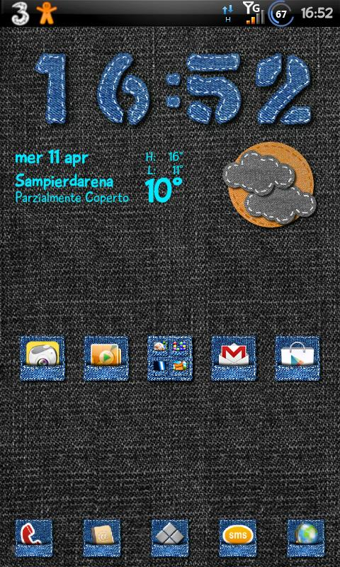 Jeans Theme GO Launcher EX - screenshot