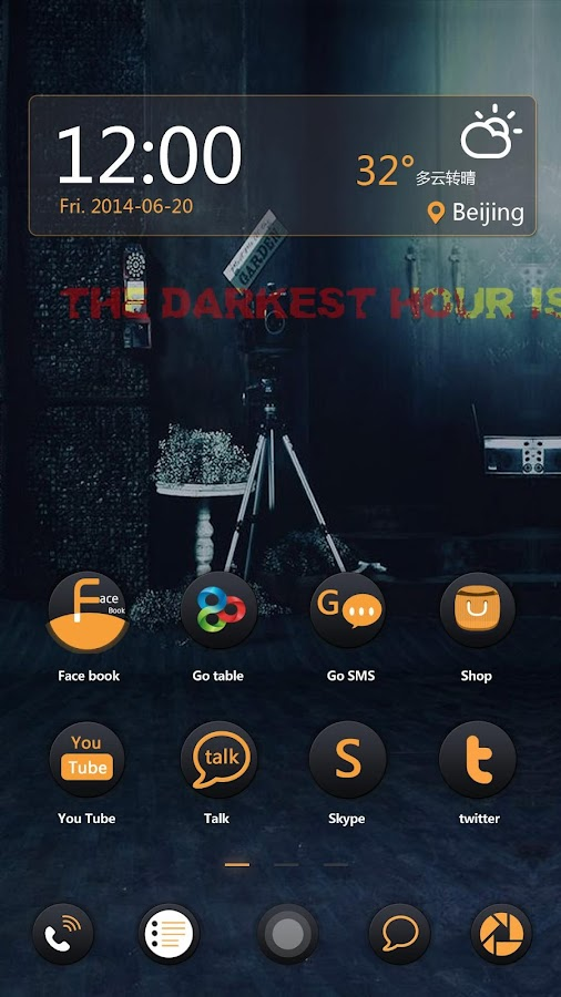 Before The Dawn GO Theme- screenshot