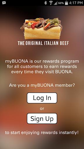 my BUONA Rewards