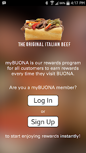 my BUONA Rewards- screenshot thumbnail