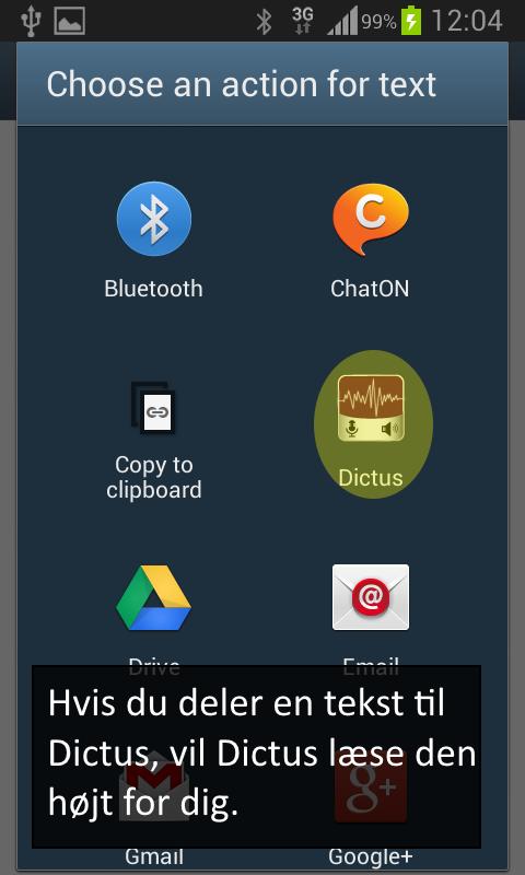 Dictus- screenshot