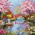Spring jigsaw puzzles icon