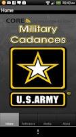 Screenshot of Army Cadances