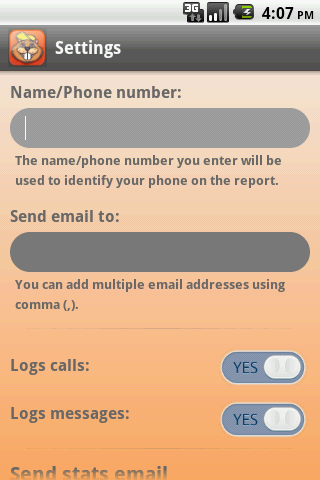 Easy Call and Texts Logger - screenshot