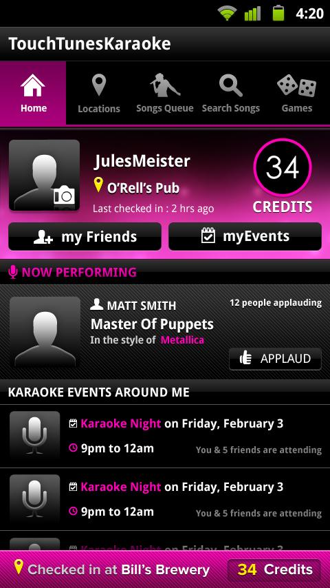 TouchTunes Karaoke - screenshot