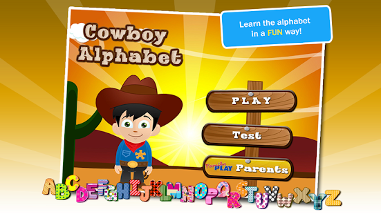 Alphabet Cowboy ABC for Kids