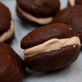 Mini Chocolate Peanut Butter Whoopie Pies