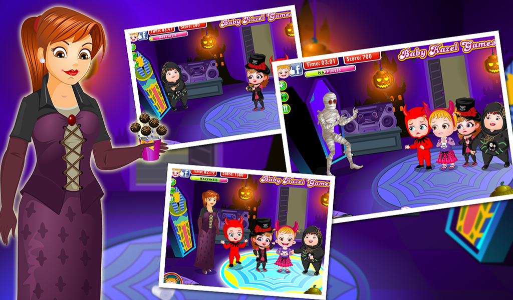 baby hazel halloween castle screenshot - Halloween Baby Games