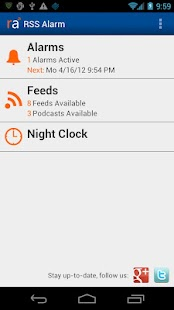 RSS Alarm - screenshot thumbnail