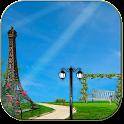 Summer paris live wallpaper icon