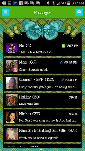 GO SMS - Butterflies 6