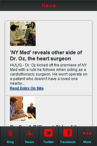 Dr. Oz News Feed - screenshot