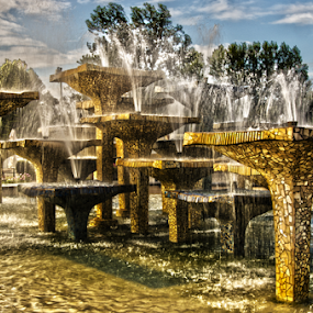 by Morgentau ;) - City,  Street & Park  Fountains ( water, fountain, landscape, city park, city )