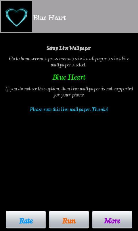 Blue Heart - screenshot