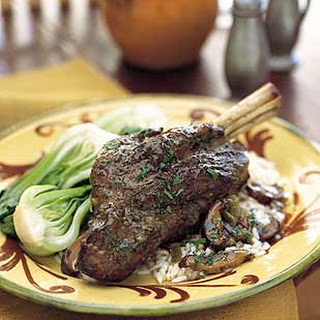 Braised Lamb Shanks with Ginger and Five-Spice.