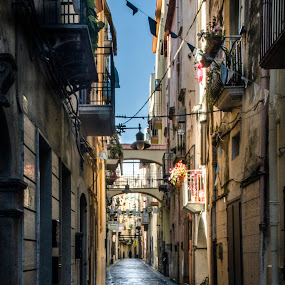 Gaeta, the street where I born by Giuseppe Ciaramaglia - City,  Street & Park  Historic Districts ( gaeta, town, italy )