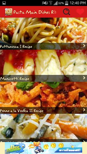 Pasta Main Dishes Recipes
