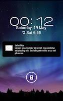 Screenshot of SMS Notification Popup