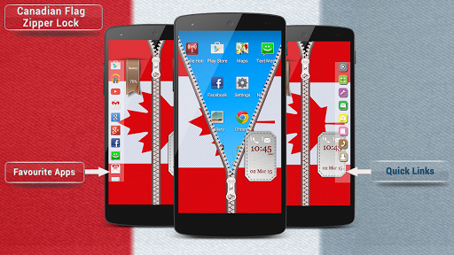 Canadian Flag Zipper Lock