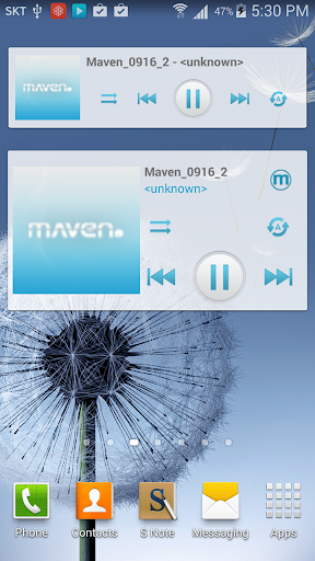MAVEN Player Blue Widget