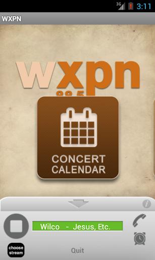 XPN Concert Calendar