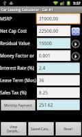 Screenshot of Car Lease Calculator Free