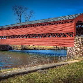 Sachs Covered-Bridge! by Nicholas Cain - Buildings & Architecture Bridges & Suspended Structures (  )
