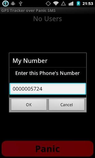 GPS Tracker over Panic SMS