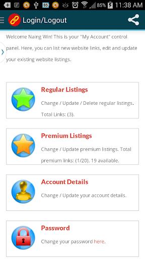 Website Link Listing Directory
