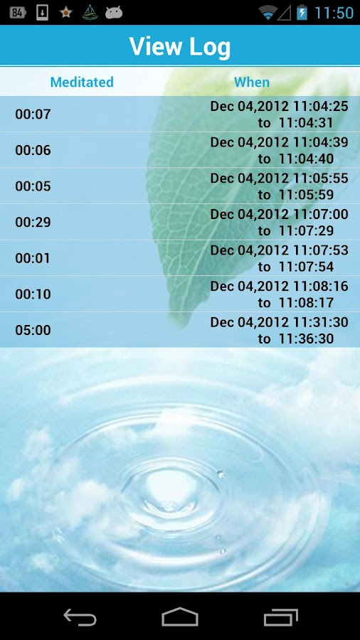 Dive Into Silence Timer Lite - screenshot