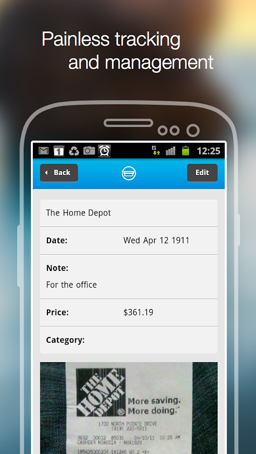 Shoeboxed Receipt Tracker- screenshot