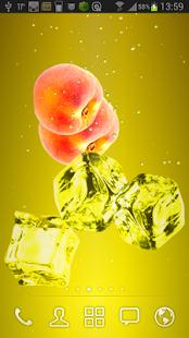 Peach juice LWP screenshot