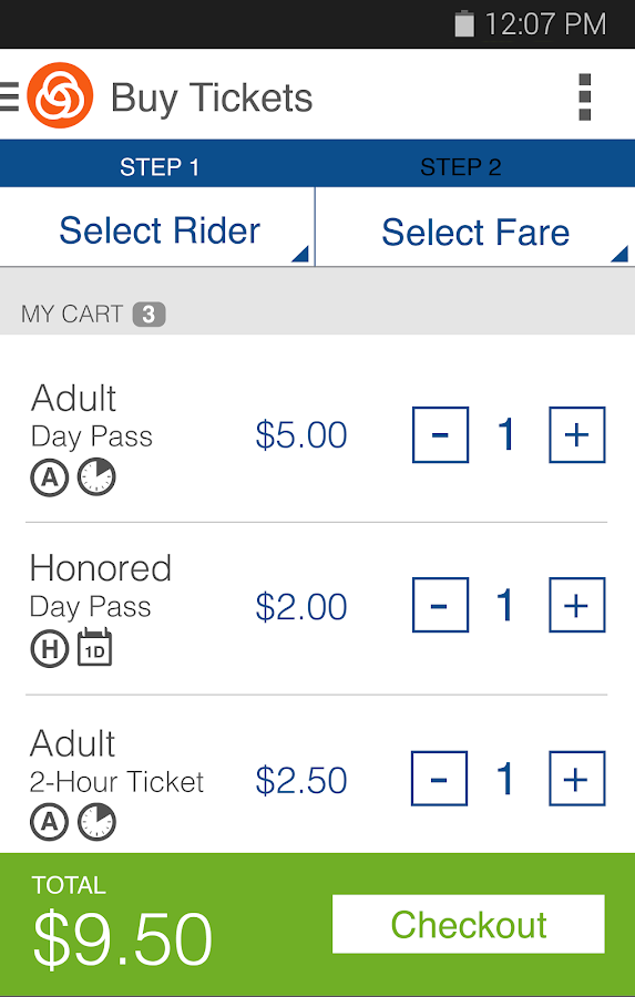 TriMet Tickets - screenshot