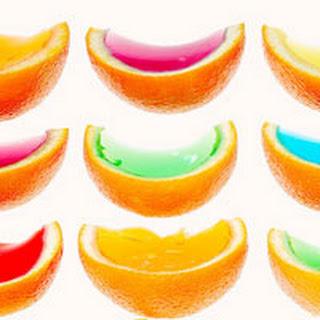 Gelatin Fruit Wedges.