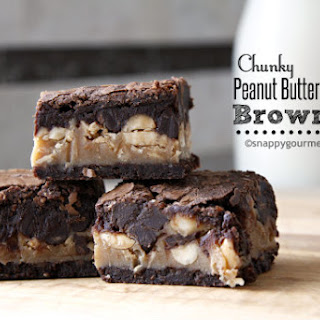 Chunky Peanut Butter Stuffed Brownies.