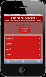 RasPi.Mobi Demo - screenshot thumbnail