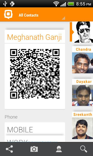 QContacts - Share contacts