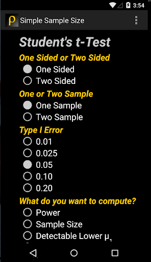 Simple Sample Size