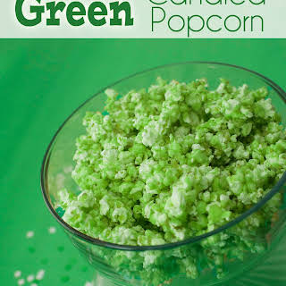 Green Candied Popcorn.
