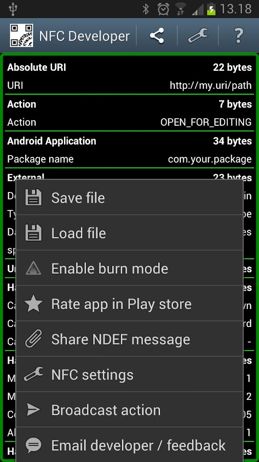 NFC Developer - screenshot