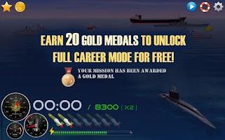 Screenshot of Silent Submarine 2 Sea Battle!