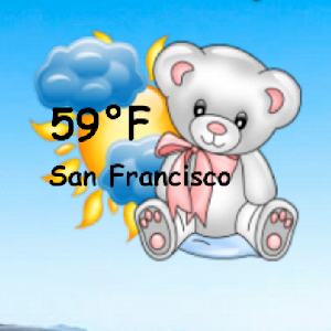 Teddy Bear Weather Widget