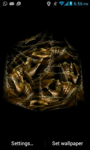 Skull Cube 3D LWP